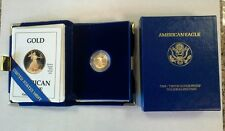 1990-P Us One Tenth 1/10 oz Gold Eagle $5 Proof with Box and Coa