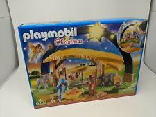 Playmobil Christmas Illuminating Nativity Manger Kids Play 9494