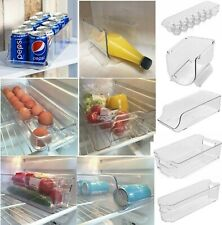 CLEAR PLASTIC FRIDGE STORAGE TRAY BOX EGG TRAY FRUIT TRAY CAN FOOD STORAGE