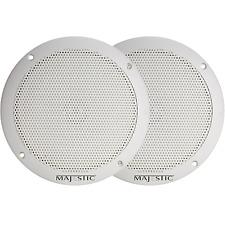 """Majestic Waterproof Speaker, 6"""""""", 1"""""""" Deep, White"""
