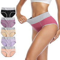 Women's Underwear Comfortable Cotton High Waisted Full Coverage Brief Panties/*