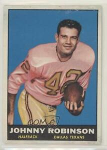 1961 Topps Johnny Robinson #139 Rookie HOF