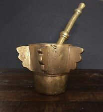 Mortar and Pestle - Brass - Rare Antique Collectible - Blacksmith Made - HEAVY!