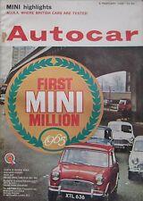 Autocar magazine 5 February 1965 featuring Mercedes 190D road test