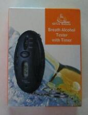Drive Safely BREATH ALCOHOL TESTER with Timer KEY CHAIN Ring Keychain NEW
