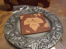 "Longaberger Falling Leaves 8"" Metal Candle Plate #77321"