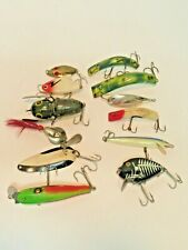 New listing Vintage Lot Of Fishing Lures Heddon, Lazy Ike, Red Eye, Al Foss No Reserve !