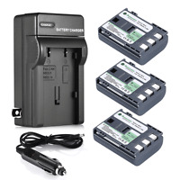 3x NB-2LH NB-2L Battery for Canon Rebel XT XTi EOS 350D 400D G9 G7 S30 + Charger