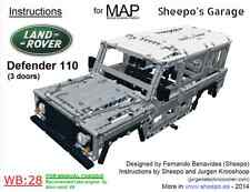 Sheepo's Lego Technic Land-Rover Defender 110 3d Bodywork(MAP) ONLY INSTRUCTIONS