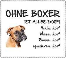 """Displayreinigunstuch Boxer """"ALLES DOOF"""" Brillenputztuch NEU Hund GT0025"""