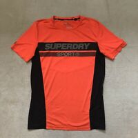 Superdry Sports Athletic Fit Men's Orange Shirt Size Large Preowned