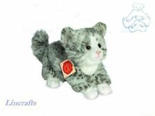 Grey/White  Kitten Plush Soft Toy Cat  by Teddy Hermann Collection. 91818