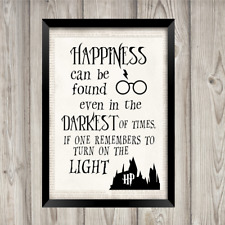 Harry Potter a4 PRINT home quote wall art saying picture