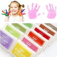 Child Craft Oil Based DIY Ink Pad Rubber Stamp FabricWood Paper Scrapbook azNMG$