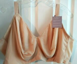 Catherines NWT Smooth Comfort No Wire Full Coverage Support Bra Plus 52C Nude