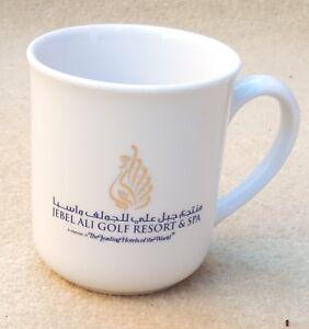 JEBEL ALI GOLF RESORT & SPA Porcelain Branded Logo Design White Mug Cup 9 cm