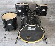 "Pearl Vision VB Shell Set 22"" BD,10"" TT,12"" TT,14"" FT Schwarz Drumset"