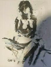 nude naked women art act woman painting drawing poster oryginal