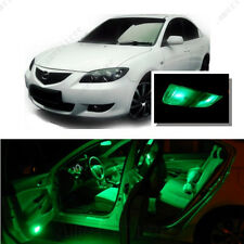 For Mazda 3 03-09 Green LED Interior Kit + Green License Light LED