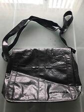 Dunlop Black Leather Mens Messenger Bag