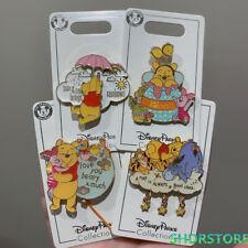 Disney Pin Winnie the pooh tigger eeyore piglet 4pins set shanghai disneyland