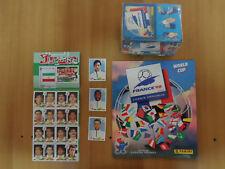 World Cup WM FRANCE 98 PANINI 1 Empty Album+1 Sealed Box+ Iran+3 Rare English