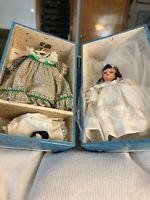"Madame Alexander SCARLETT 8"" WEDDING DOLL, HONEYMOON TRUNK AND CLOTHES LOT"