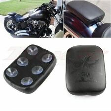 Rear Passenger Pillion Pad Seat 6 Suction Cup For Harley Bobber Motorcycle XL883