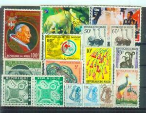 Lot Briefmarken aus dem Niger