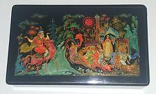 "Palekh Палех Russian Lacquer Box ""The Tale of the Dead Princess"" 1972 V. Lezko"