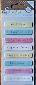 """Hot Diggity Dog """"Sentiments-Birthday"""" Elements Hand Finished Toppers~Cards"""