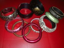job lot costume jewellery high street vintage coloured bangles  LOT 19