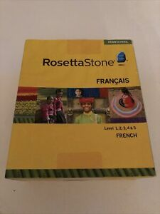Rosetta Stone French Levels 1-5 Full Package