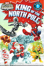 KING OF THE NORTH POLE Super Hero Squad MARVEL Early READER Level 1 HEROES Book