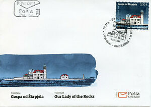 Montenegro Churches Stamps 2020 FDC Our Lady of the Rocks Architecture 1v Set