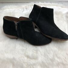 Sam Edelman Booties Petty Chelsea Ankle Boots Bootie Black Suede Leather 8W