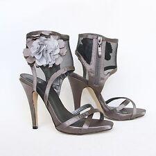 Plataforma pumps 39 gris tacón alto stilettos señora sandalias con tiras 10779