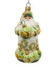 Patricia Breen Lets Decorate Peaches Santa Christmas Holiday Ornament Fruit