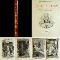 🌓 BANVILLE ROCHEGROSSE Les Princesses Ferroud 1904 sublime exemplaire sur JAPON