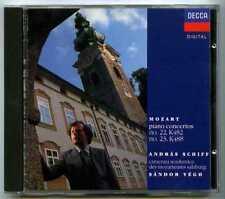 CD SCHIFF, Sandor VEGH : Mozart Piano concertos.. / Decca Digital full silver