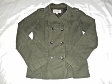 Mossimo Supply Co. Outerwear Button Up Winter Jacket Coat Size S Olive Green