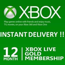 Microsoft Xbox LIVE 12 Month Gold Membership Card ⚡⚡ INSTANT DELIVERY !!! ⚡⚡