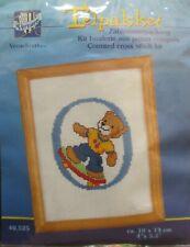 Teddy Bear Counted Cross stitch Kits Telpakket Letter O