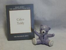 1991 Franklin Mint Teddy Bears The Americana Collection Calico Teddy