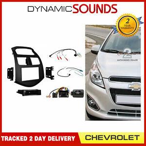 CTKCV05 Car CD Stereo Radio Fascia Full Kit Black For Chevrolet Spark 2013-2015