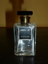 "Vintage Lanvin Arpege Perfume Bottle with Glass Stopper and Black Label 3"" Tall"