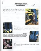 Handwarmer Scarves with Mittens Knitting Instruction Pattern KNOON Adult's