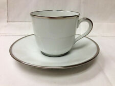 "FURSTENBERG ""WAGENFELD EDITION PLATINUM"" COFFEECUP & SAUCER PORCELAIN GERMANY"