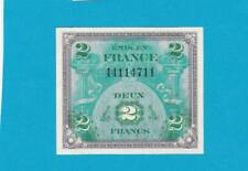 Billet 2 Francs Drapeau - type 1944 - sans série