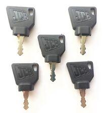 (5) JCB  Heavy Equipment Ignition Keys- Factory Original with OEM Logo 701/45501